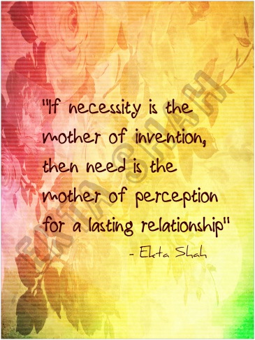 Need is the mother of perception